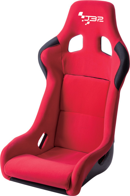 JBR1066 Red Fabric Sport Racing Seats With Adjuster / Slider Car Seats