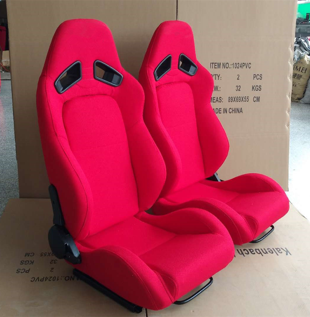 Adjustable Racing Style Car Seats , Automotive Racing Seats Suede Material