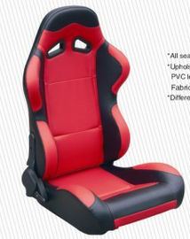 Trung Quốc Cars Parts Universal Black And Red Racing Seats Foldable With Safety Belts nhà máy sản xuất