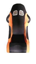 Trung Quốc Suede Material Black And Orange Racing Seats , Cars Bucket Seats Double Slider nhà máy sản xuất